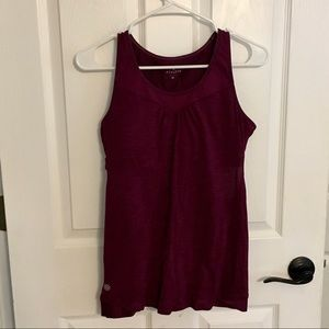 Athleta Supercharged support top wine burgundy